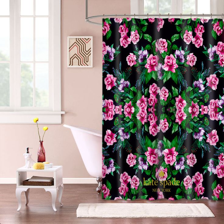 """New Kate Spade Lux Pink Floral Custom Shower Curtain 60"""" x 72"""" #Unbranded #Modern #Best #Design #Cheap #Gift #Beautiful #Showercurtain #valentaingift"""