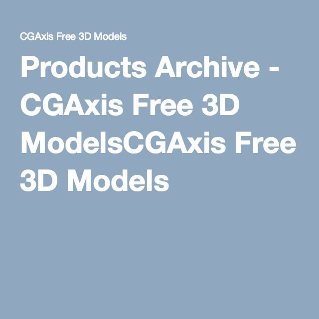 Products Archive - CGAxis Free 3D ModelsCGAxis Free 3D Models