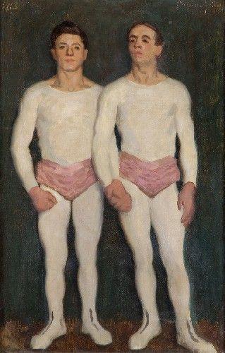 Károly Ferenczy (Hungarian 1862–1917) [Impressionism, Realism, Academicism] Artisták, 1913. Magyar Nemzeti Galéria, Budapest.