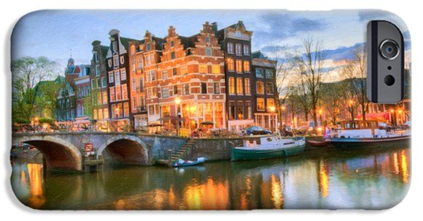 iPhone Cases - Dreamy Amsterdam   iPhone Case by Nadia Sanowar