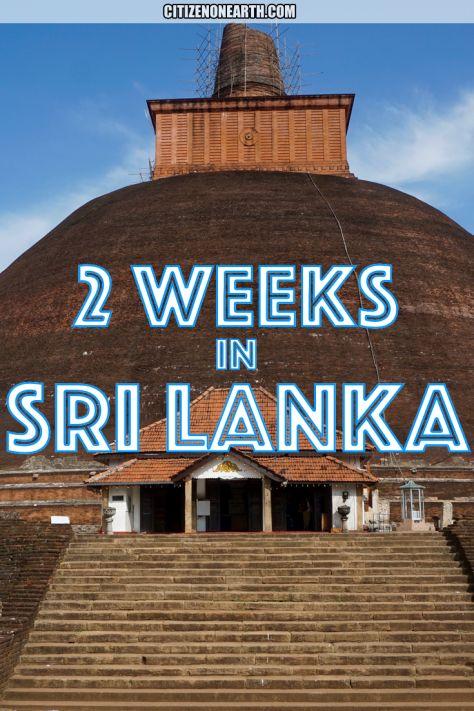 2 weeks in Sri Lanka - Travel itinerary for Sri Lanka