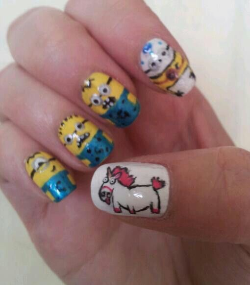 despicable me unicorn nails - photo #2