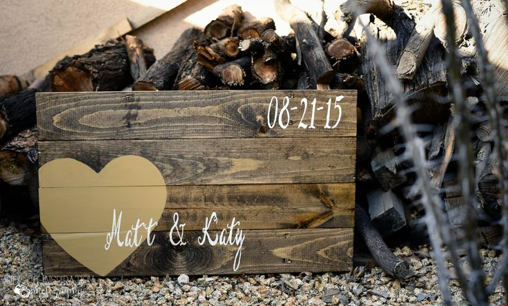 Custom Wood sign with Bride & Groom's name in painted lettering with large heart. Established date of Marriage, the first day of the rest of your life <3 Handmade by Doh Doh's Boutique. Visit www.facebook.com/dohdohsboutique to place your custom order today! OR email ao8711@gmail.com Photographed by : Side of Inspiration Photography www.facebook.com/SideOfInspirationPhotos