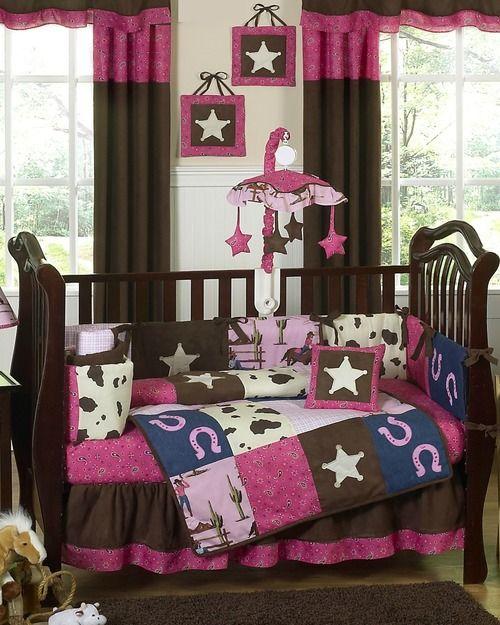Cowgirl western baby bedding / 9 piece crib set #KidsRoom #BotiqueBedding