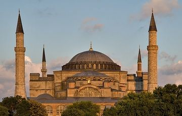 Hagia Sophia - Istanbul, Turkey The original Hagia Sophia built on this site during the fourth century by Constantine has long been destroyed, but was rebuilt between 532 and 537 under Emperor Justinian I.
