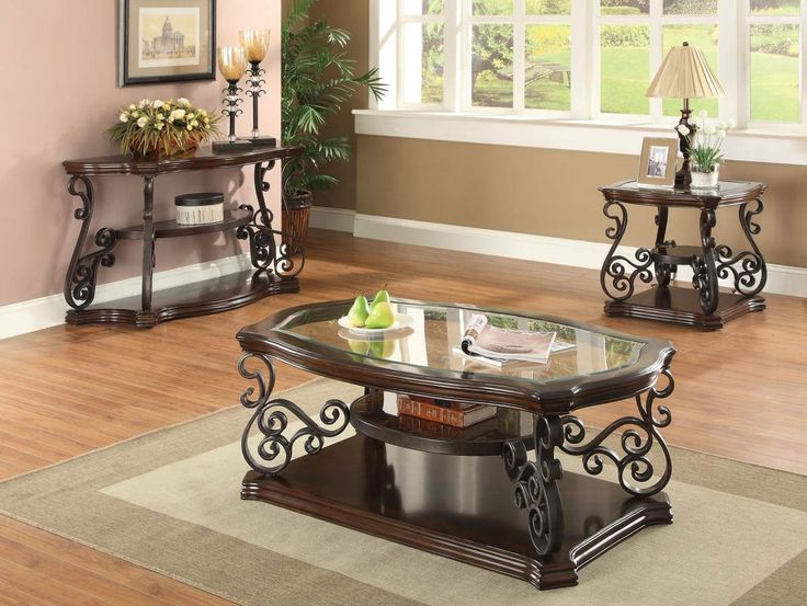 Dark Brown Traditional Coffee Table