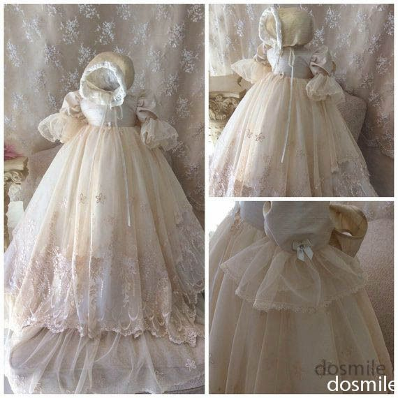 CL-1 Vestido Bebe 2015 Custom A-line White/Ivory Full sleeves Lace Baptism Rope Christening Dress Baby Long Gowns With Bonnet ro
