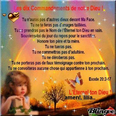 dix commandements de DIEU