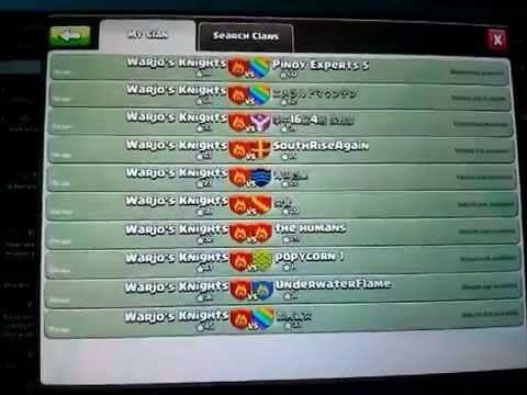 Clash of clans - Ten War Wins in a row!
