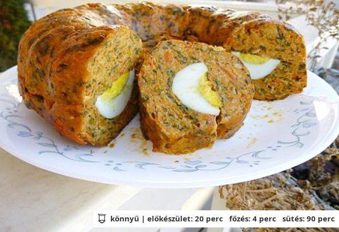 Sült tojásos csirkekuglóf