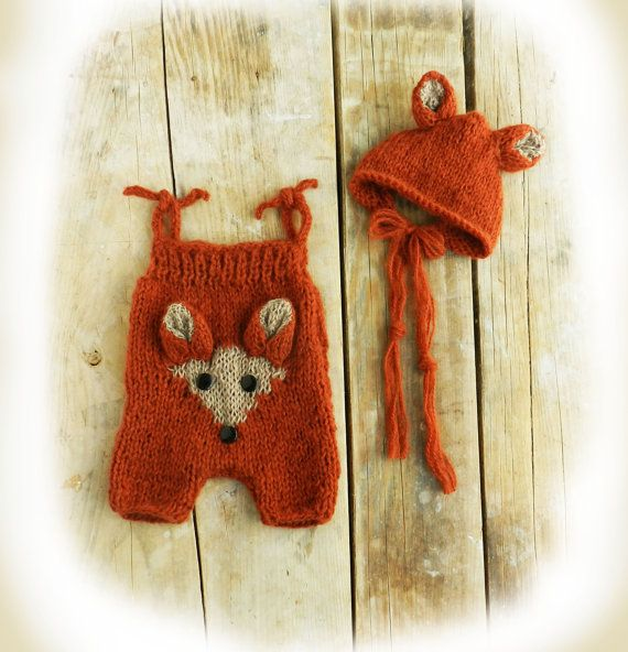 Newborn Fox Outfit Newborn Fox Hat Baby Fox by GabriCollection
