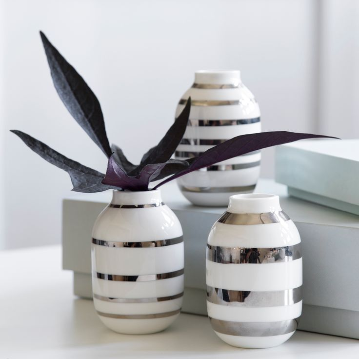 Kählers sølv Omaggio miniature vaser.