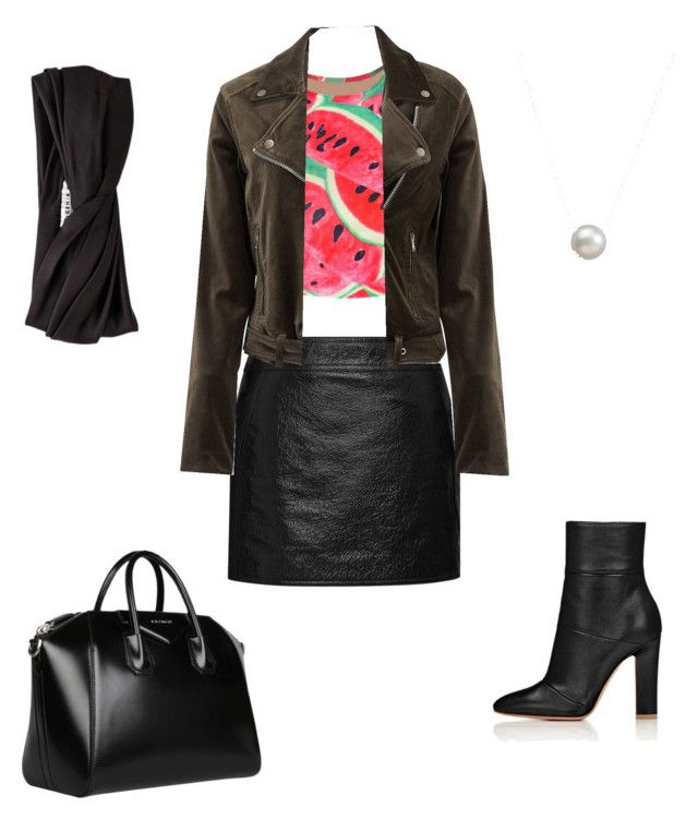 """""""Untitled #36"""" by jennybuutrago on Polyvore featuring Yves Saint Laurent, WithChic, Paige Denim, Givenchy, Eugenia Kim and Dogeared"""