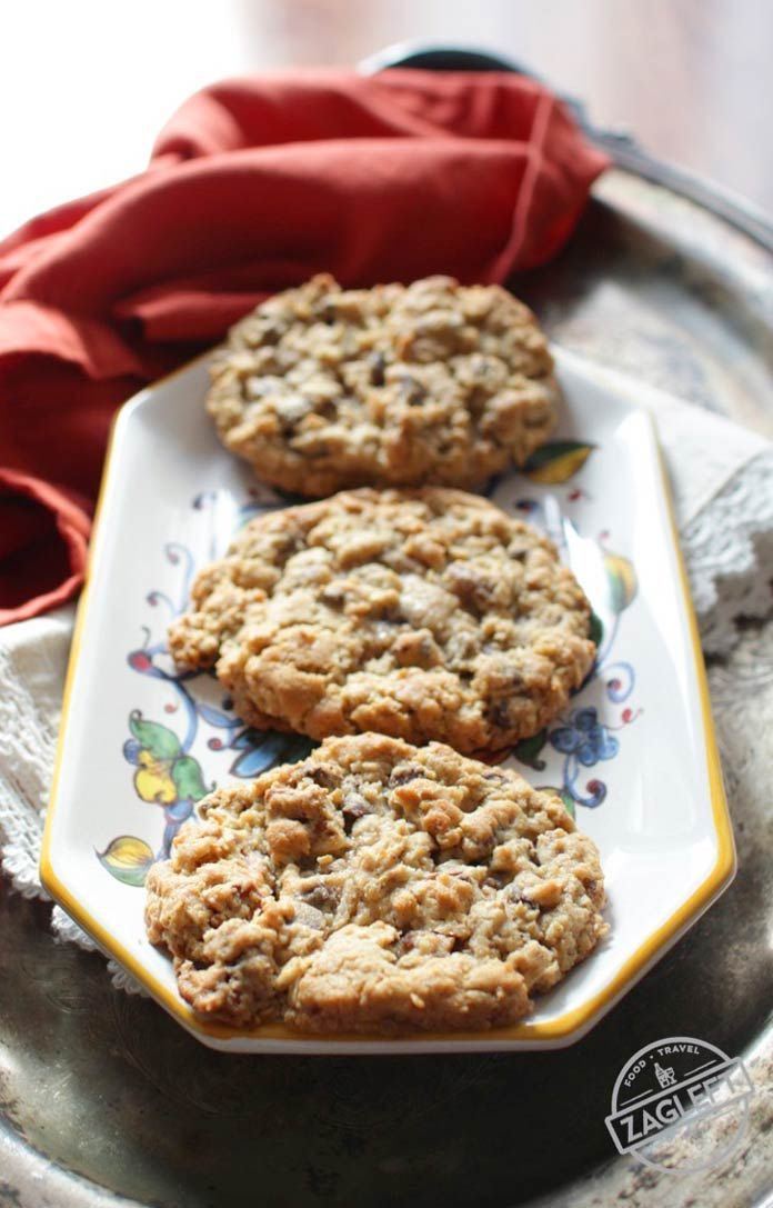 Half Batch Texas Governor's Mansion Cookies, a small batch of the famous jumbo cookies filled with oats, chocolate chips, pecans and coconut. | zagleft.com