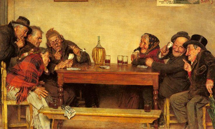 Игра в карты. Гаэтано Беллеи