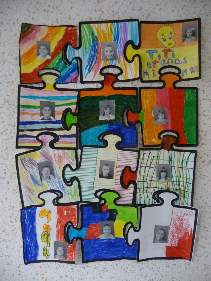 1000 id es sur le th me pi ces de puzzle sur pinterest for Decoration porte de classe cycle 2