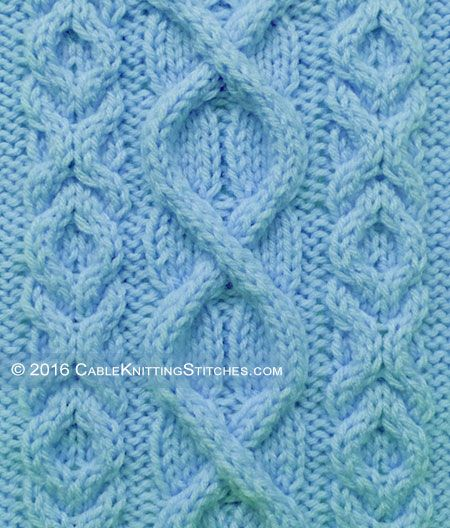 Cable Pattern 5: Superimposed Cable + Hugs and Kisses stitch