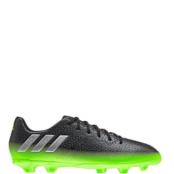 adidas Messi 16.3 FG J Dark Grey/Silver Metallic/Solar Green Youth Soccer  Cleats