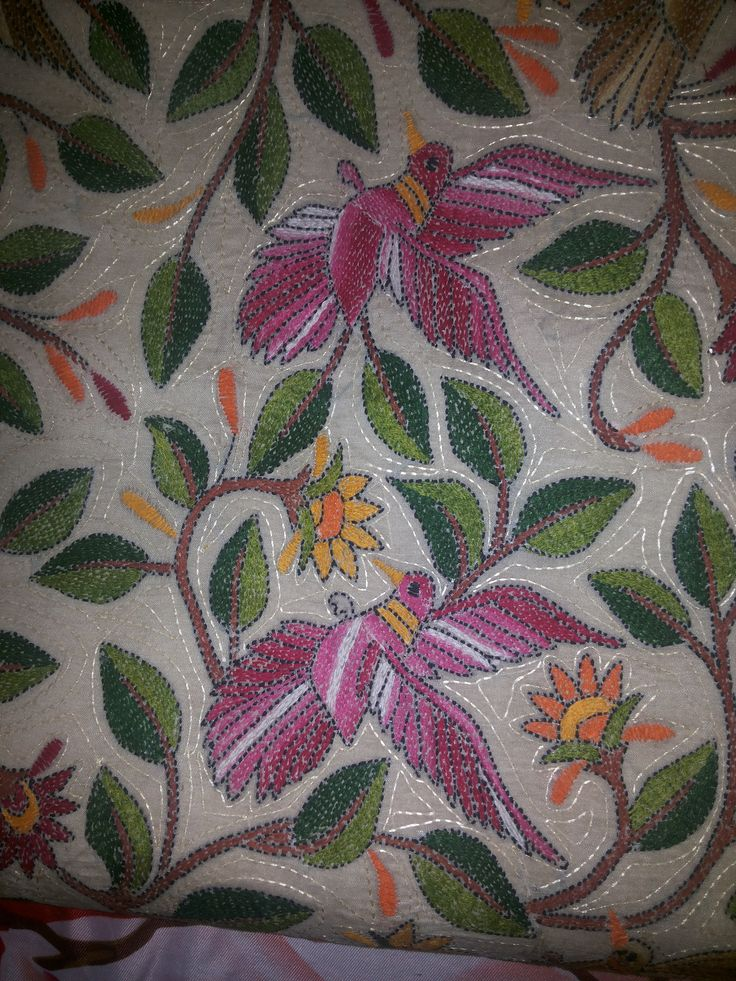 Indian Embroidered Sarees: 240 Best Kanta Work Images On Pinterest