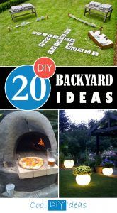 20 Awesome DIY Backyard Ideas That Will Make Your Neighbors Jealous            When it comes to your backyard, the size doesn't matter, you can create an incredible oasis that'll be a wonderful place for kids and adults. There are various things that you can do that will cost not much and will ...