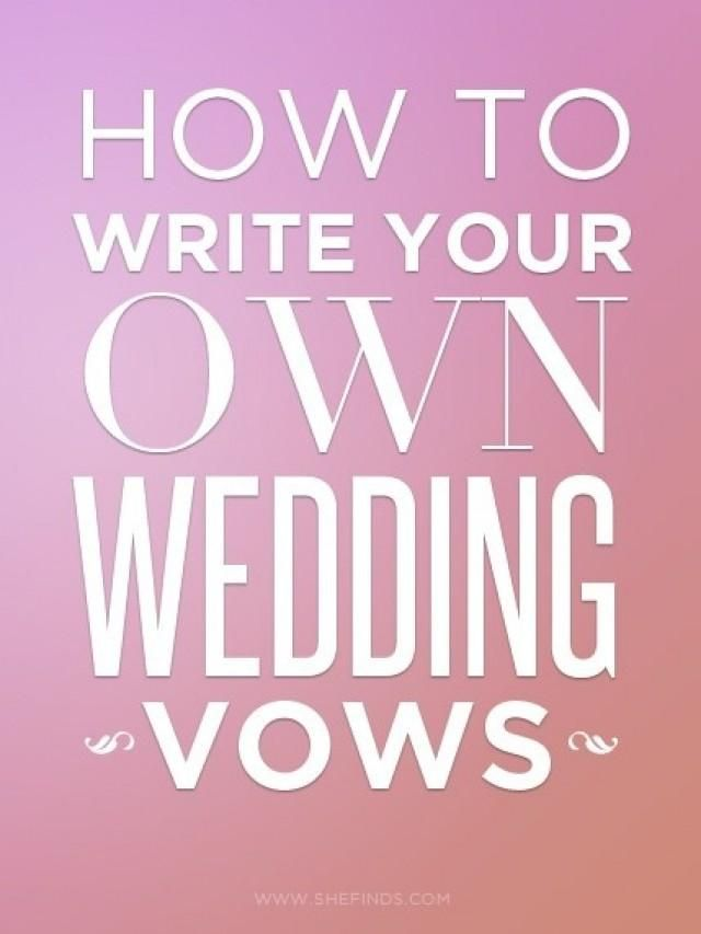 how to write a wedding vow