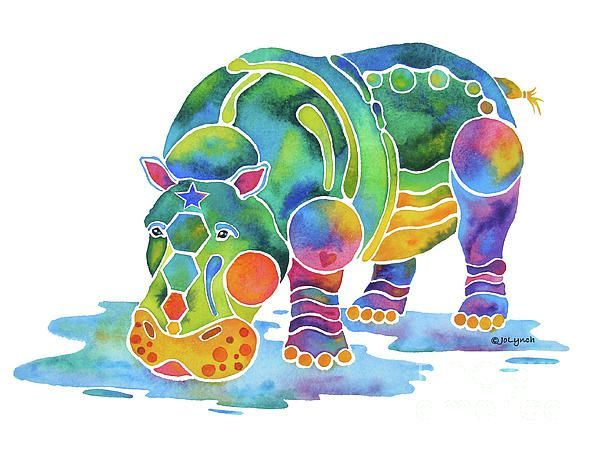 Resultado de imagen para hippo painting
