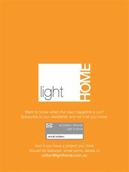 Light Home Magazine : Light Home Summer Issue 2011, Page 110