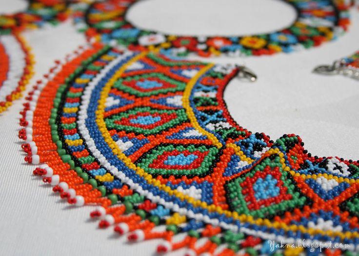 Українські прикраси з бісеру милують око барвами, вражають своєю красою. Орнамент, поєднання кольорів, різноманітні форми створювалися протягом століть разом з історією та культурою нашого народу, відображаючи самобутні національні риси, місцеві особливості, художні традиції,from Iryna