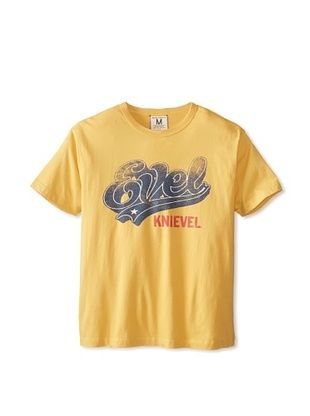 47% OFF Tailgate Clothing Company Men's Evel Script T-Shirt (Maize)