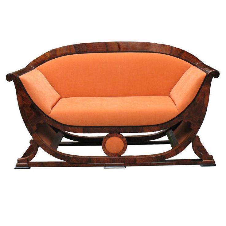 Highly Important Biedermeier Settee by Josef Danhauser   From a unique collection of antique and modern settees at https://www.1stdibs.com/furniture/seating/settees/