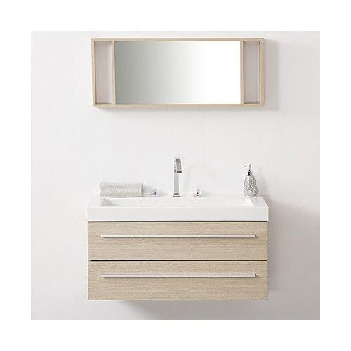"Found it at AllModern - 40"" Single Barcelona Beige Bathroom Vanity Set with Mirror"