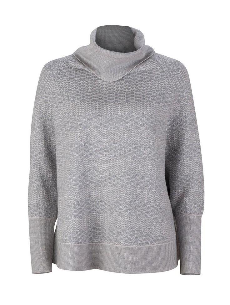 Waffle Sweater Cape | Grey Marle | Ella Sanders AW17 |   100% Australian Superfine Merino wool