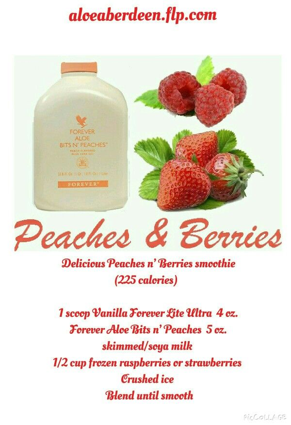 Delucious and healthy Peaches n Berries smoothie!  A great start to your day! https://www.foreverliving.com/retail/entry/Shop.do?store=BEL&language=nl&distribID=310002029267