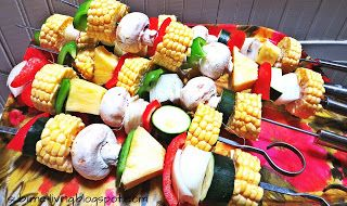 SUBLIMEliving: BEST & EASIEST Paleo Barbeque Side Dish: Grilled Veggie Kabobs
