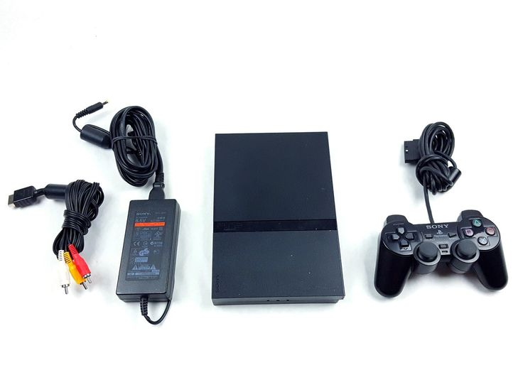 UncleZekes.com - Sony PlayStation 2 Slim Charcoal Black Console SCPH-70001