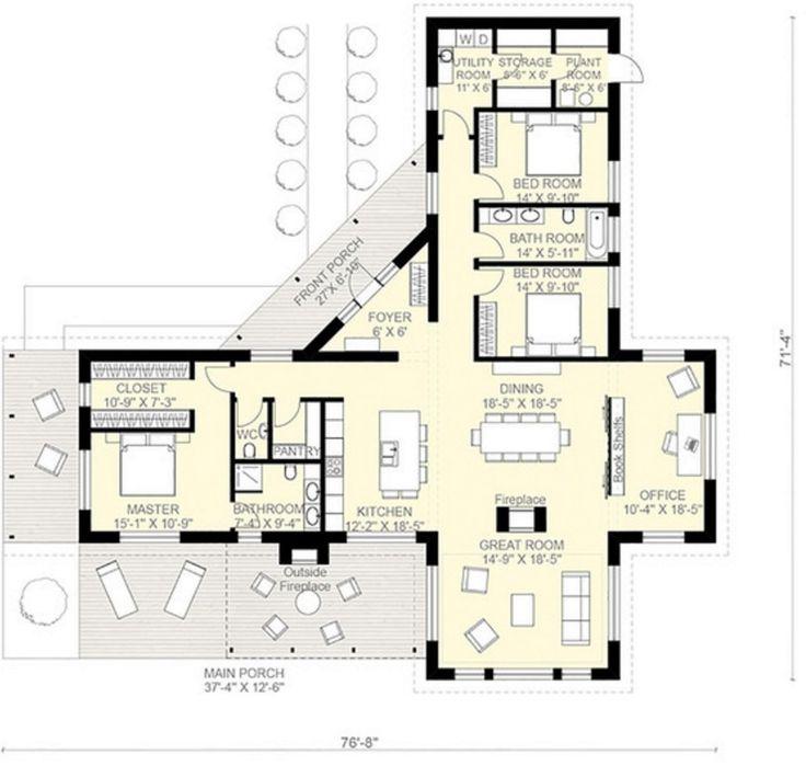 Las 25 mejores ideas sobre planos de casas modernas en for Plantas modernas para jardin