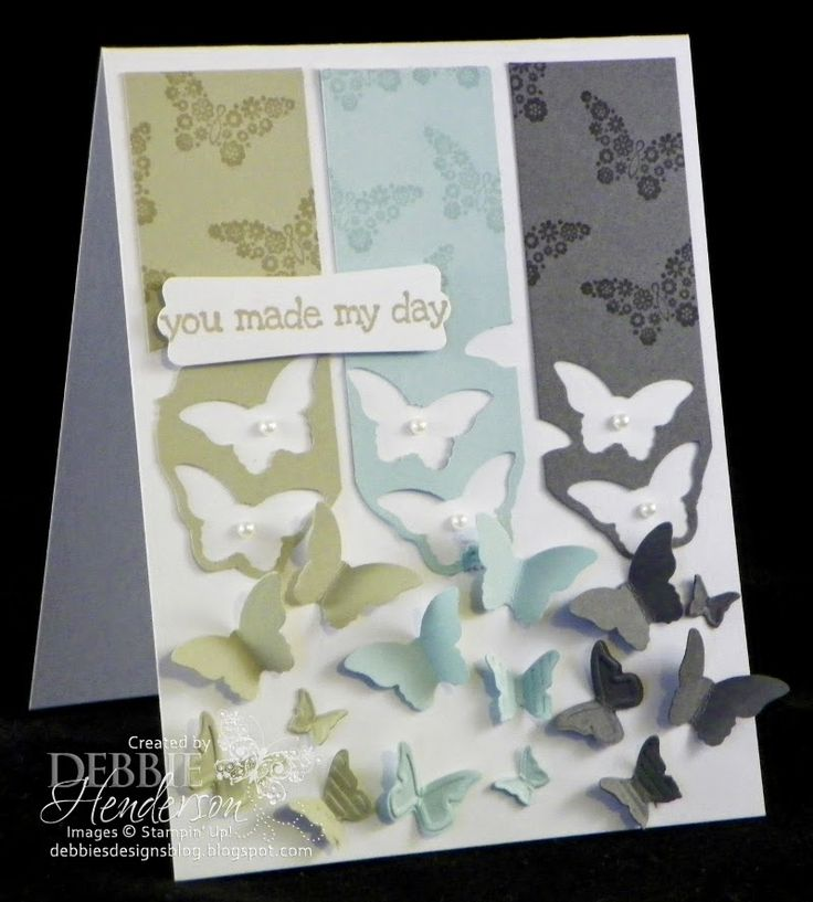 Create with Connie & Mary #304 color challenge. Papillon Potpourri by Debbie Henderson, Debbie's Designs.