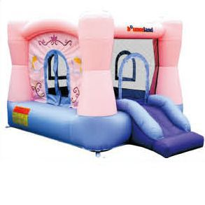 Pink kids inflatable bouncer for bouncer game