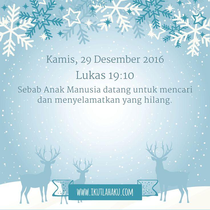 Renungan Hari Kamis 29 Desember 2016