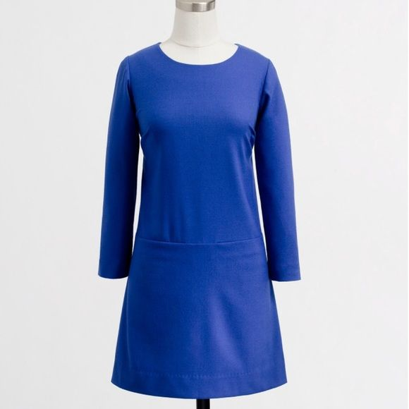 J. Crew Factory Dresses - J. Crew shift dress Waistline looks dropped => hard to pull off.  Pocket location looks dumb. Sleeve length very nice! No need to wear a blazer on top.