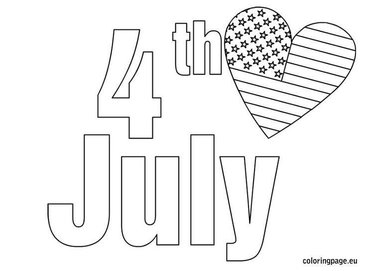 happy 4th birthday coloring pages - photo#34