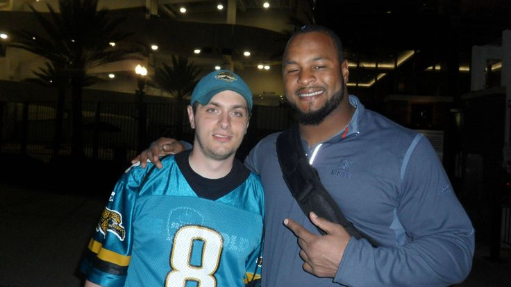 Jacksonville Jaguars DE #94 Jeremy Mincey (November 2012 at Everbank Field in Jacksonville, FL)