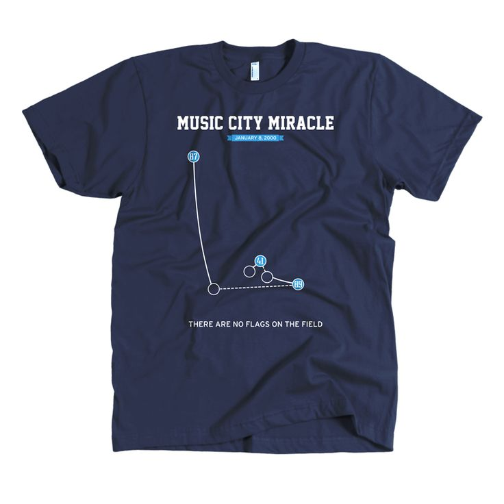 Music City Miracle Shirt $28.00 The Music City Miracle is a play that took place on January 8, 2000 during the National Football League's 1999–2000 playoffs. It occurred at the end of the Wild Card Playoff game between the Tennessee Titans and Buffalo Bills at Adelphia Coliseum (now known as LP Field) in Nashville, Tennessee.