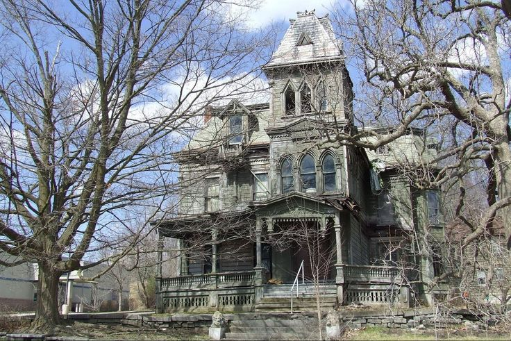 Webster Wagner Mansion in Palatine Bridge, NY  Built in 1876 for Webster Wagner, the inventor of the sleeping car for trains.   Fate was unkind - Mr. Wagner died shortly after the house was completed in an unfortunate train accident.