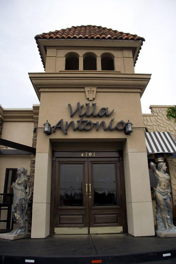 Villa Antonio An Italian Restaurant On South Boulevard In Charlotte Nc Of All
