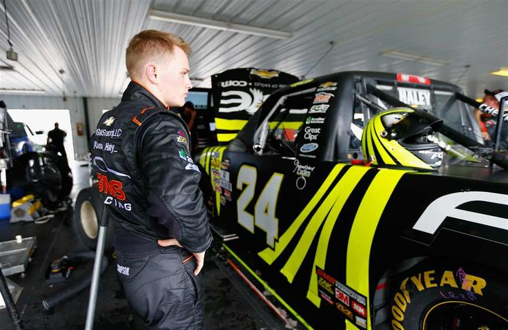 At-track photos: Pocono, Iowa Sunday, July 30, 2017 Justin Haley, driver of the No. 24 Fraternal Order of Eagles Chevrolet, stands in the garage area during practice for the NASCAR Camping World Truck Series Overton's 150 at Pocono Raceway on July 28, 2017 in Long Pond, Pennsylvania. Photo Credit: Photo by Jonathan Ferrey/Getty Images Photo: 67 / 67
