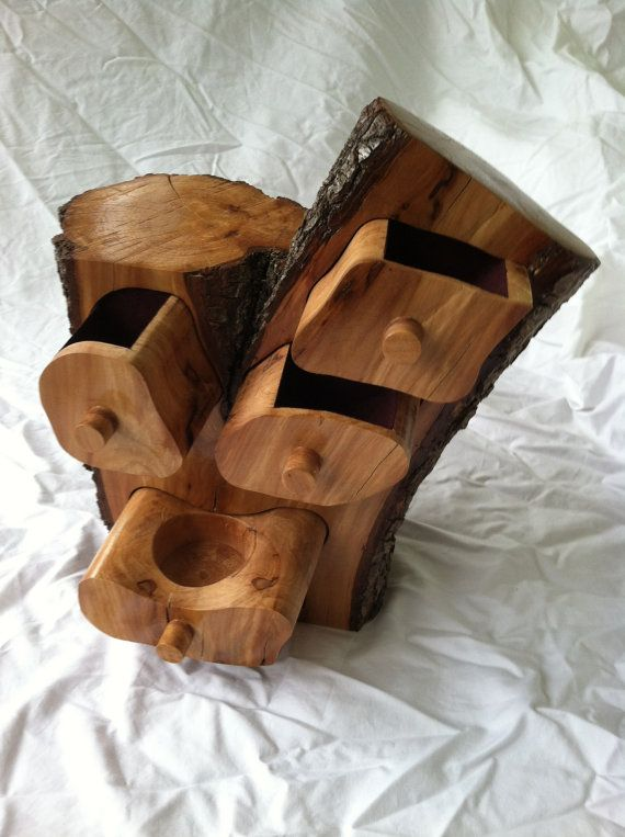 Bandsaw box log jewelry or trinket box REDUCED by CharlesNordell