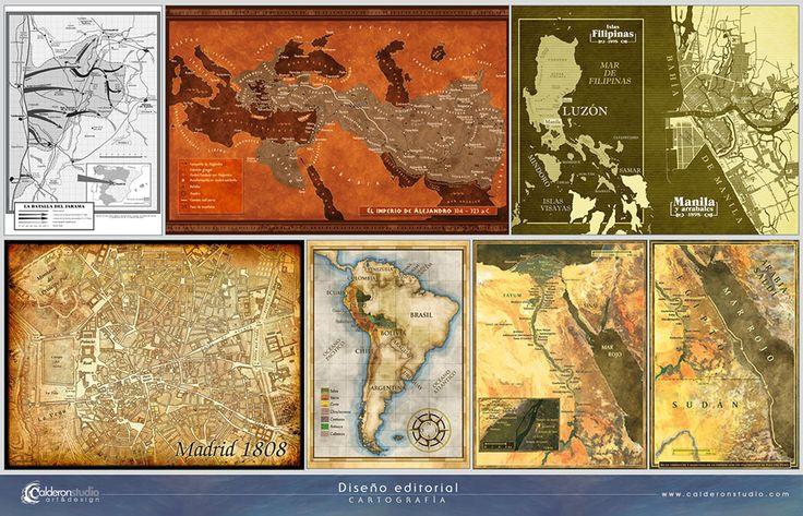 CalderonSTUDIO Portafolio Diseño editorial Cartografía