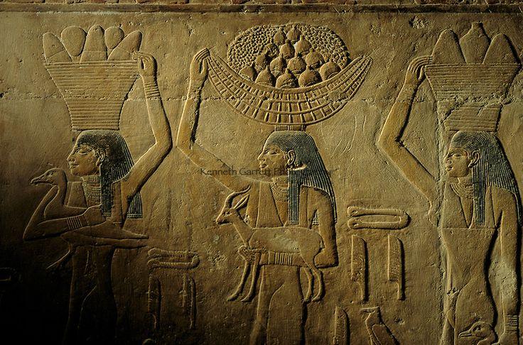 Offfering scene from tomb of Ti, 5th dynasty, Egypt's Old Kingdom,Saqqara