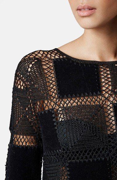 Topshop Fringed Crochet Top | вязаный крючком топ